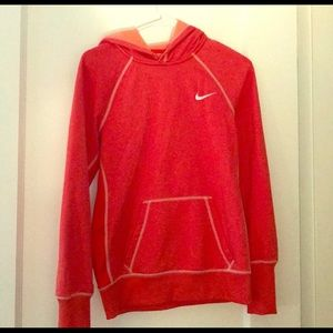 Orange Nike Thermafit Sweatshirt Hoodie